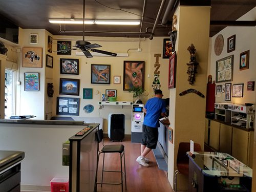 inside tattoo shop